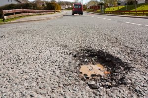 Signs that a Pothole has Damaged your Car